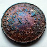 Portugal - XX reis Maria II - 1852  20_reis-1852-a