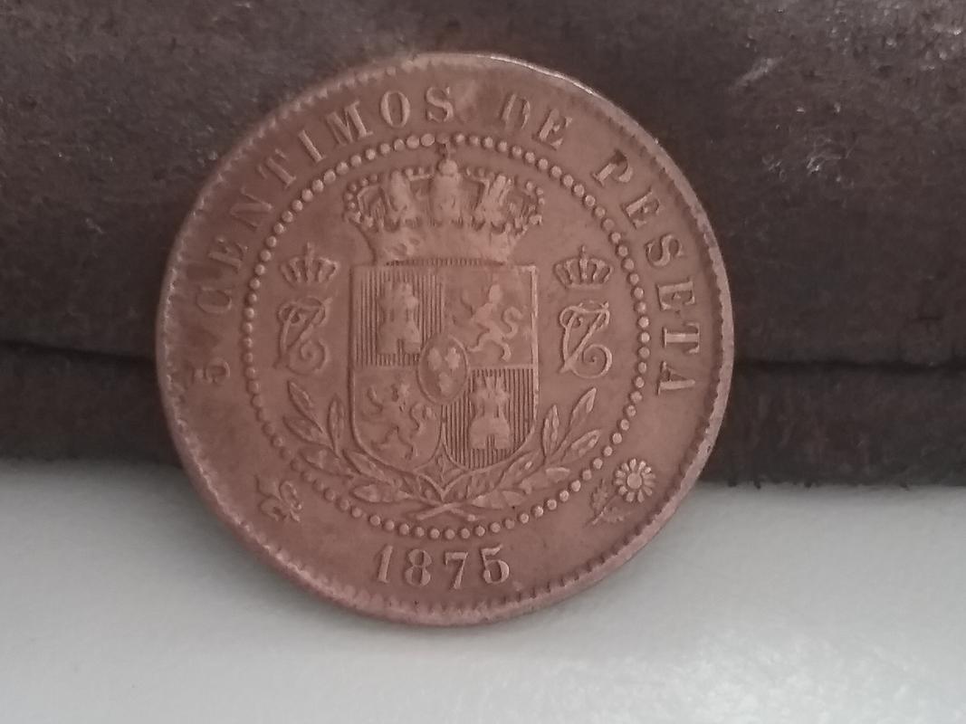 5 céntimos 1875. Carlos VII. Dedicados a REVERSO12 20170910_132839