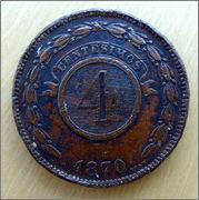 Paraguay - 4 centésimos - 1870 4_cents-a