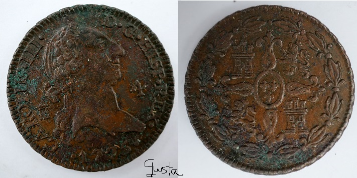4 Maravedís CAROLUS III, Segovia. 1775 Spanishs_zpsd80e0ffa