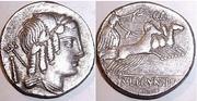 REPUBLICANAS - Página 2 L__Julius_Bursio_denarius_85_BC_Caesars_emporium