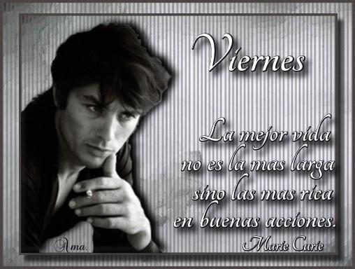 Alain Delon con Frase Viernes