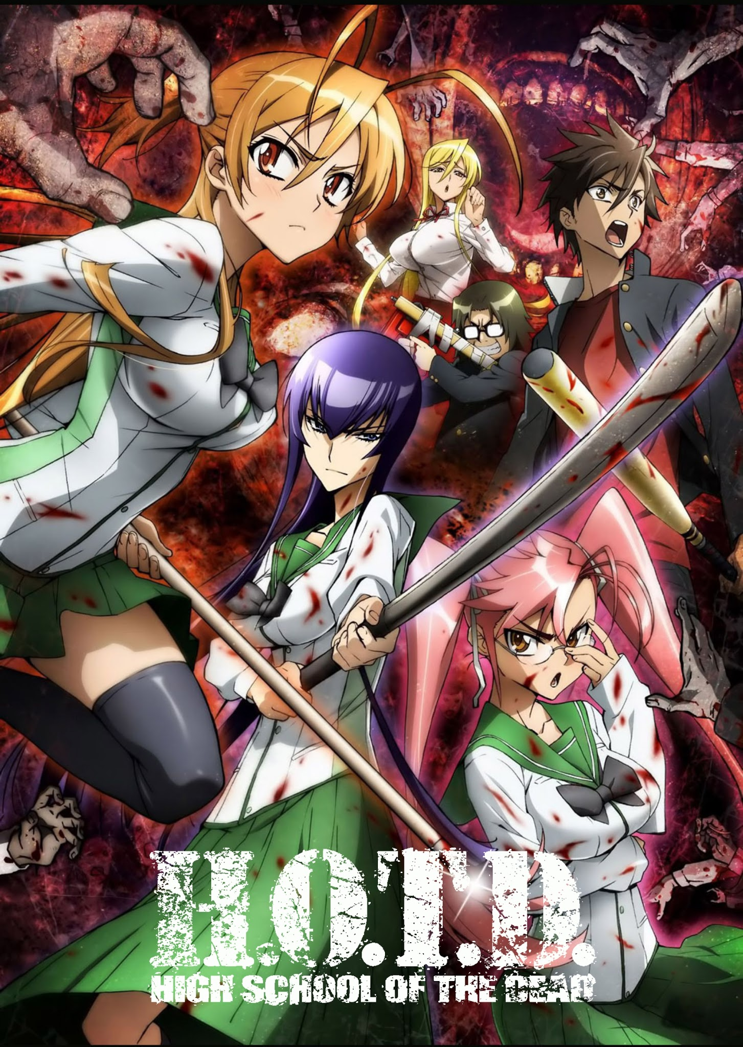 High School of The Dead | HD | Cast/Ing/Jap+Sub | 12/12+Ova | MKV-1080p | x265 High_School_of_The_Dead