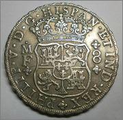 8 Reales Felipe V 1745 Mexico MF P6250103