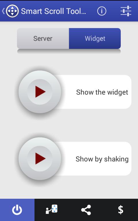 [APPLICATION ANDROID - SMART SCROLL TOOLS] Défiler votre écran en utilisant des boutons [Gratuit] Screen2