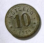 De necesidad y de guerra: monedas de la I Guerra Mundial Unterweserstadte-a
