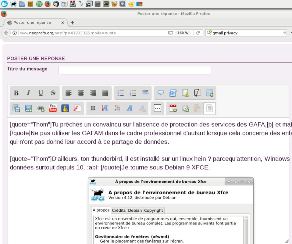 Gmail & Adresse académique Debian