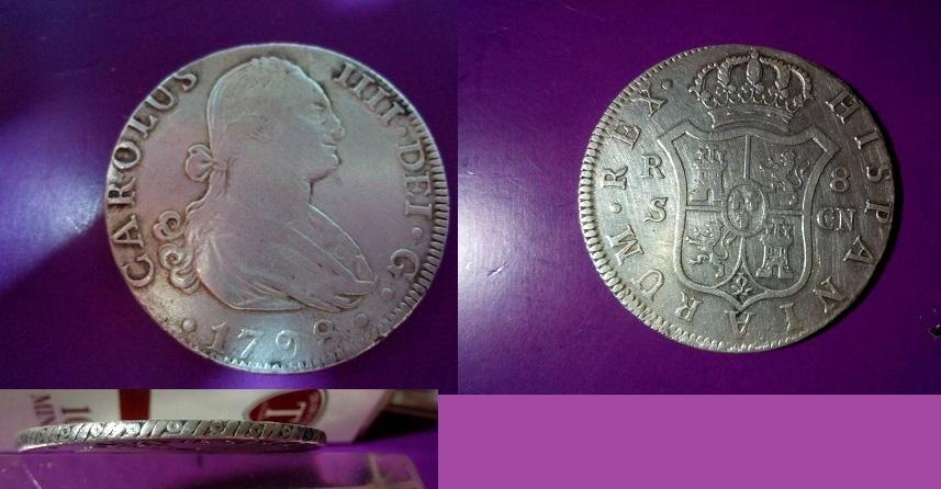 8R carolus IV del 1798 Sevilla_8_R_1798_cara