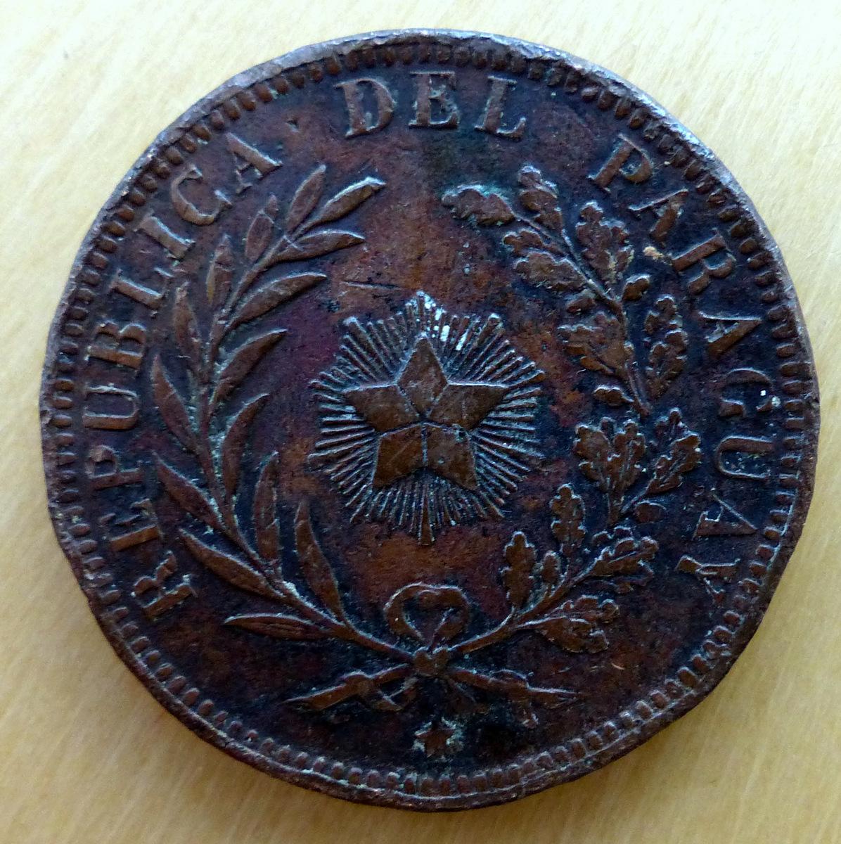 Paraguay - 4 centésimos - 1870 4_cents_r