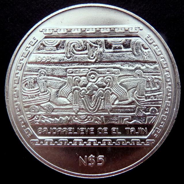 México - 5 Nuevos Pesos - Serie Precolombina Me_xico_N_5_a
