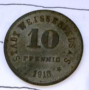 De necesidad y de guerra: monedas de la I Guerra Mundial Weissenfels-a