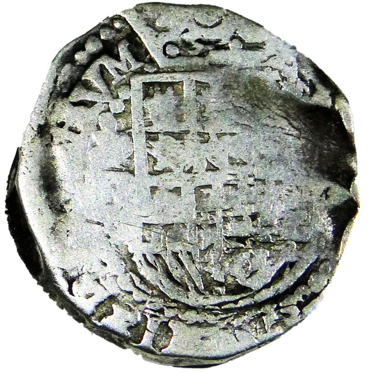 2 reales macuquinos de Felipe II, III ó IV, Potosí. Macuquina2_editado_1