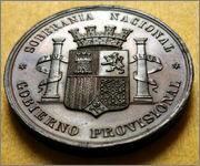 Medalla-prueba Proclamación del Gobierno Provisional - 1868 - Dedicada a flekyangel Espa_a_1868_rr