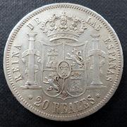 20 reales 1854. Isabel II. Sevilla (Dedicada al compañero Lanzarote) 20_reales-1854-a