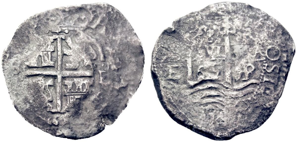 8 reales macuquinos de felipe IV 2105713l