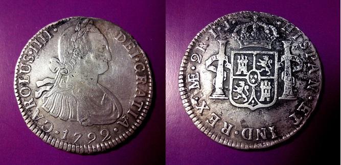 2 Reales 1792 Carlos IIII  lima  IMG_20140328_165236