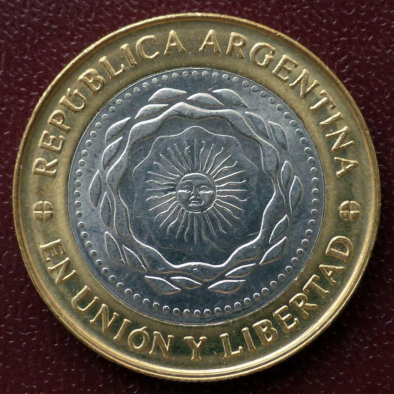 Argentina - Serie 1 peso - Bicentenario 2rev