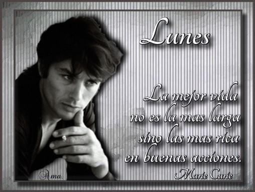 Alain Delon con Frase Lunes
