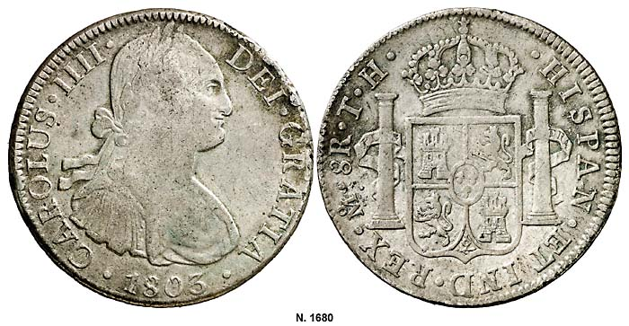 carolus III 1803 8R mexico 1680g