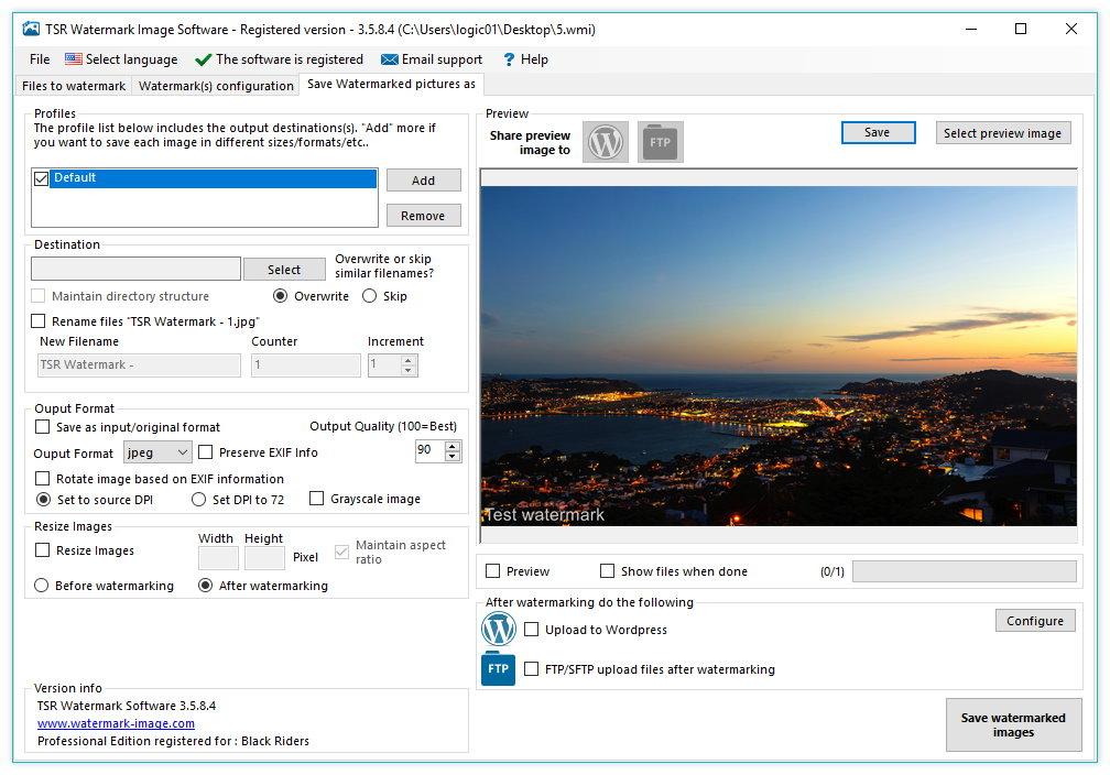TSR Watermark Image Pro 3.5.8.4 Multilingual Portable 00748