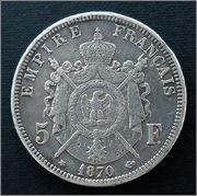 Francia - 5 Francos - 1870 - Napoleón III 5_francos_1870_r