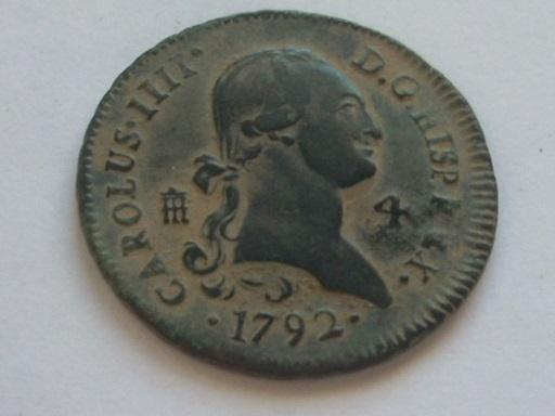 2 maravedis de carolus del año 1792 57_4