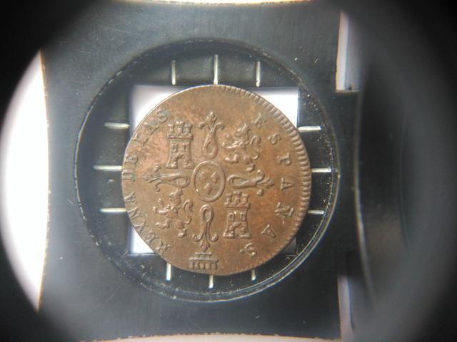 1 maravedi 1842. Isabel II. Segovia Image