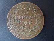 3 Grosze de 1.831. La fallida insurrección polaca  DSCN1714