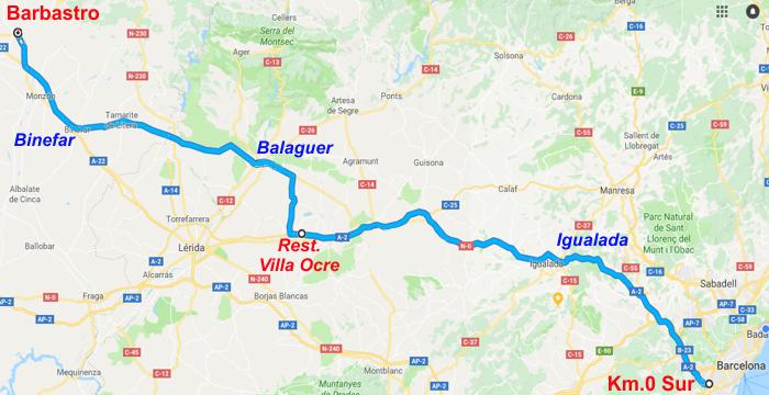 SALIDAS (CAT): Ruta a Barbastro. 15.06.2018 Ru.ba01