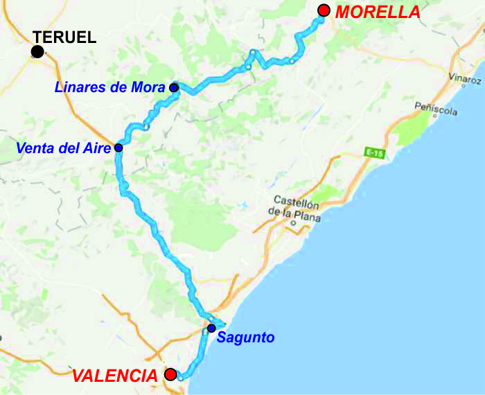 QUEDADAS (VAL): Linares de Mora - Morella. 30 Octubre 2016 Val04