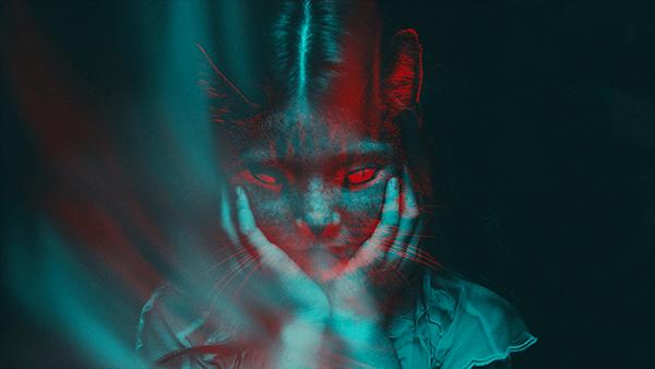 Niña felina - Doble exposición Doble_Exposici_n_de_color