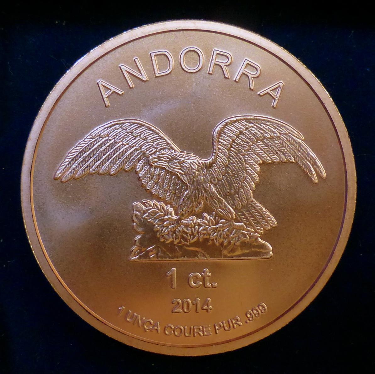 Andorra - 1 ct. de diner - 2014  1_ct_a