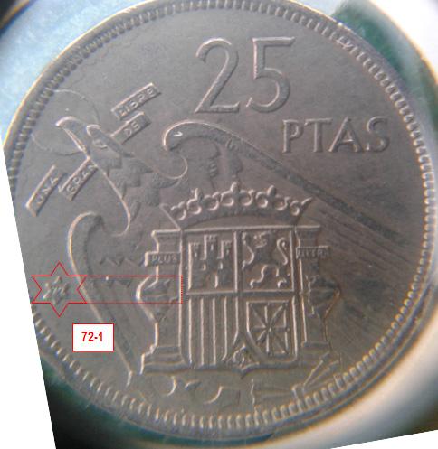 Geometría de las estrellas de las monedas de 25 pesetas 1957* 72_1_E