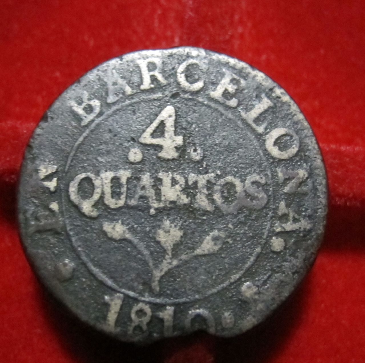 4 Quartos de 1810 (FUNDIDA). José Napoleón. Barcelona. 4quar1810