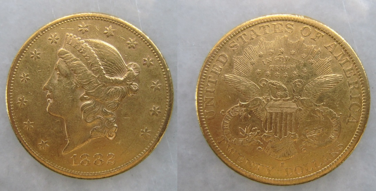 20 dolares EEUU 1882 20_dolares_EEUU_San_Francisco_1882