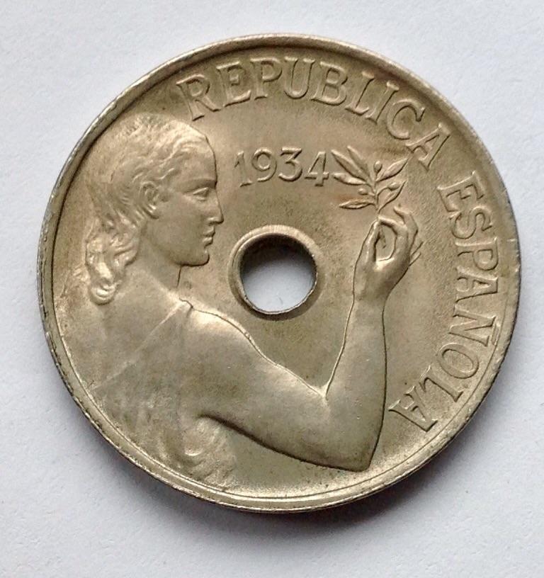 25 céntimos 1934 Madrid-República Española Image