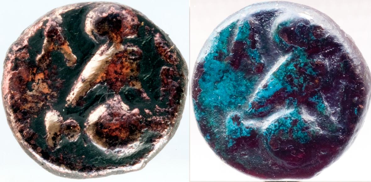 Bronce de Atenas (Atenea - Mochuelo sobre ánfora) / 195-190 a.C. Restauro_02