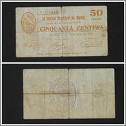 Garcia, 1 peseta, 50 céntimos y 25 céntimos (T-1087, T-1088, T-1089) T_1088