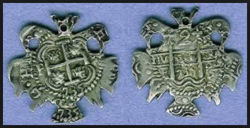 Macuquina de 2 Reales con forma de aguila Image