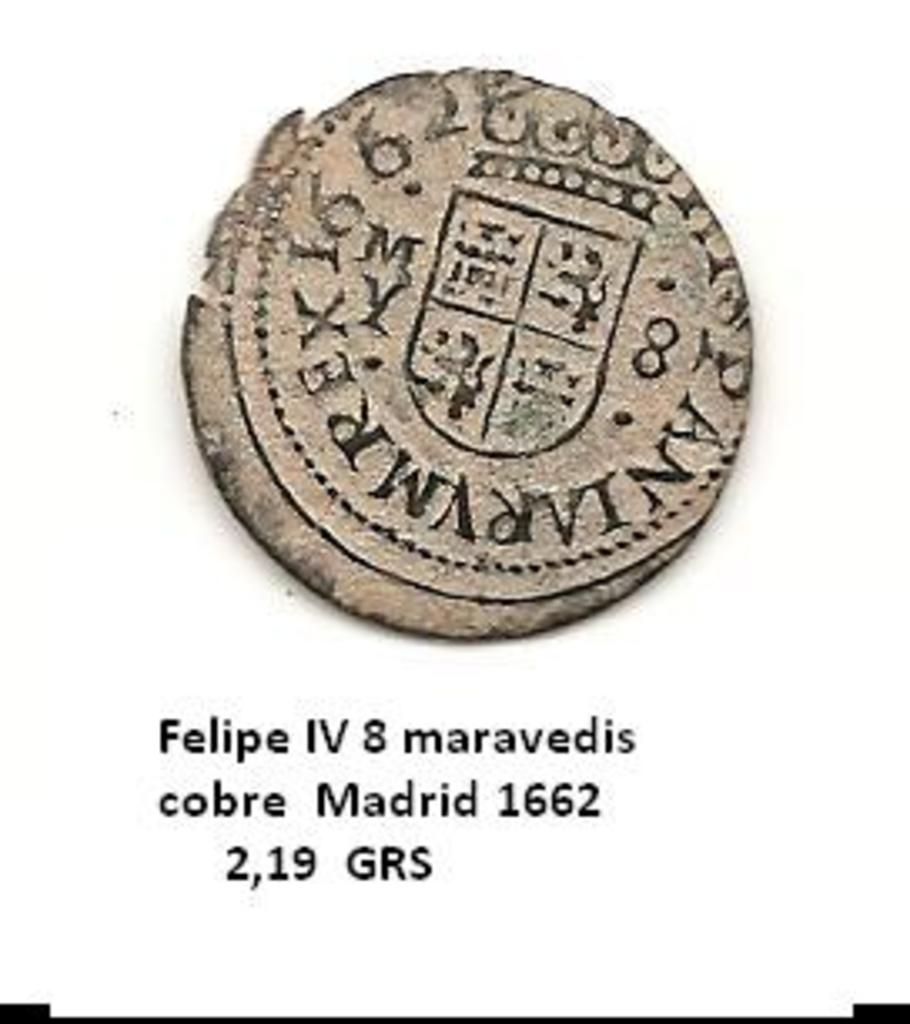 8 maravedis de 1664, Felipe IV Sevilla. Error en leyenda Image