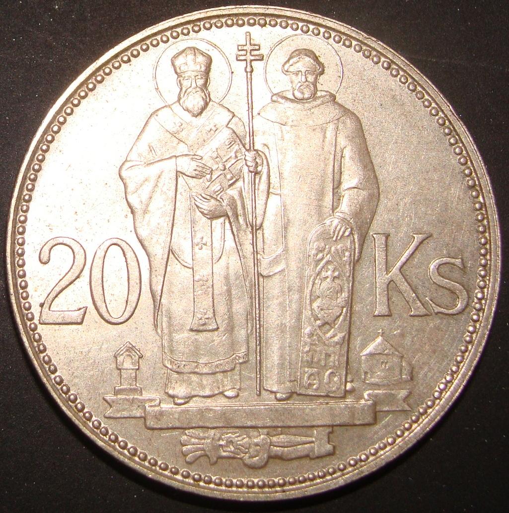 20 Coronas. Eslovaquia (1941)  SVK_20_Coronas_1941_rev