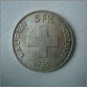 5 francos 1939 Laupen ( Suiza ) Image