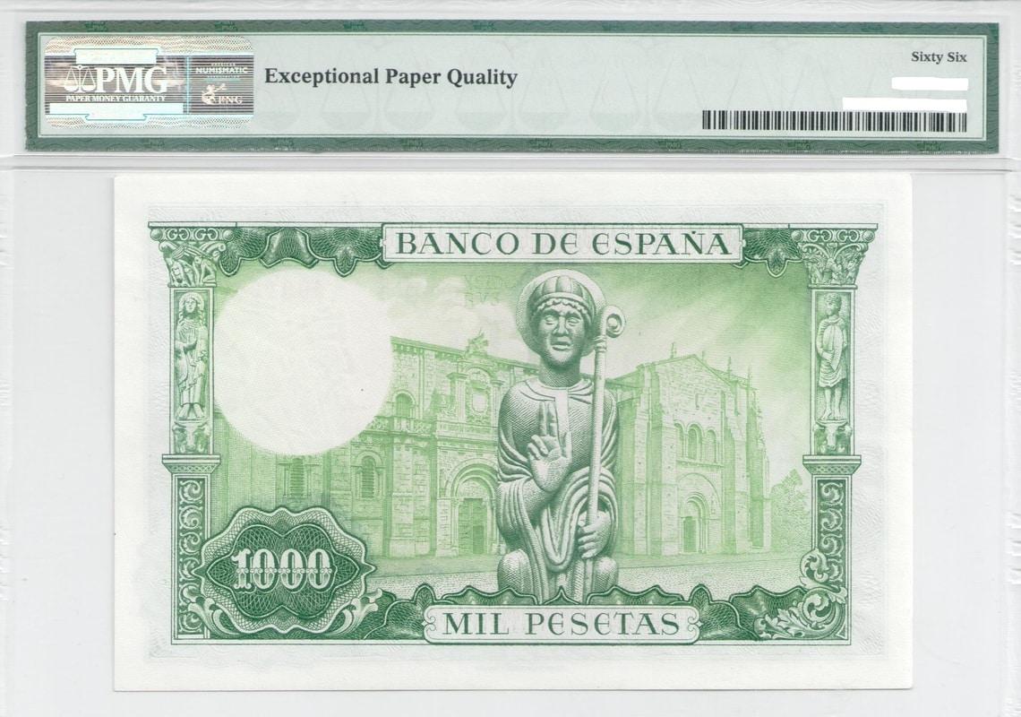 Colección de billetes españoles, sin serie o serie A de Sefcor - Página 3 1000_ptas_65_reverso