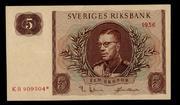 Billetes de reemplazo, no españoles Suecia_5_Coronas_reemplazo