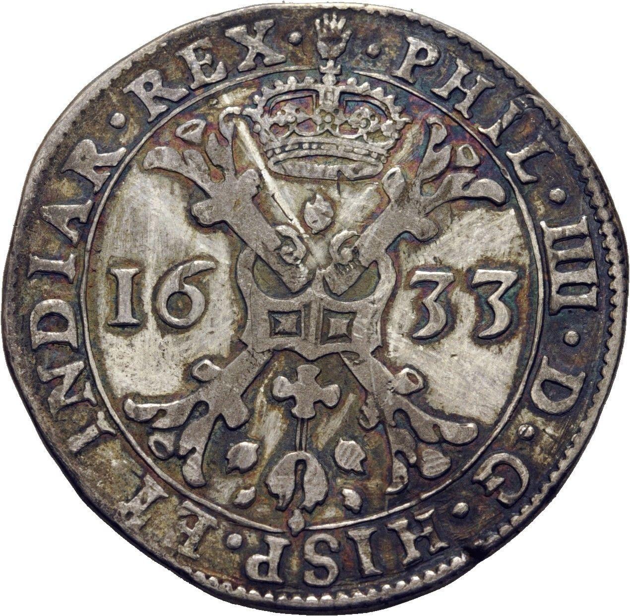 Patagón de Felipe IV, Amberes (1633). K_nker_Niederlande_Flandern_Philipp_IV_Pata