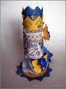 Скрапбукинг. Голубой мак, карандашница или декорваза для сухоцветов. 1_DSCF1978