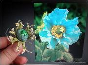 Скрапбукинг. Голубой мак, карандашница или декорваза для сухоцветов. 1_DSCF1946