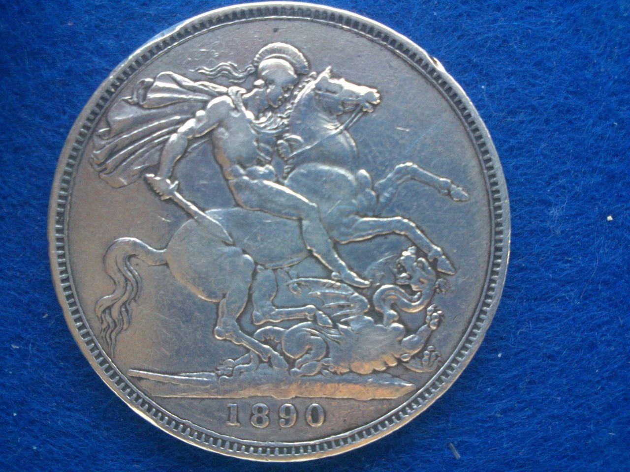 1 corona Reina Victoria 1890 Gran Bretaña 1_corona_1890_reina_Victoria
