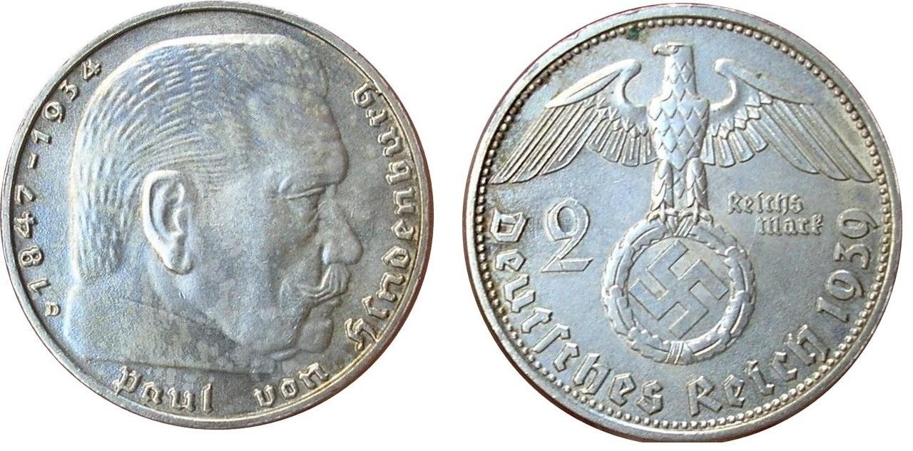 2 Marcos 1939. Munich 2mark_1939_Munich