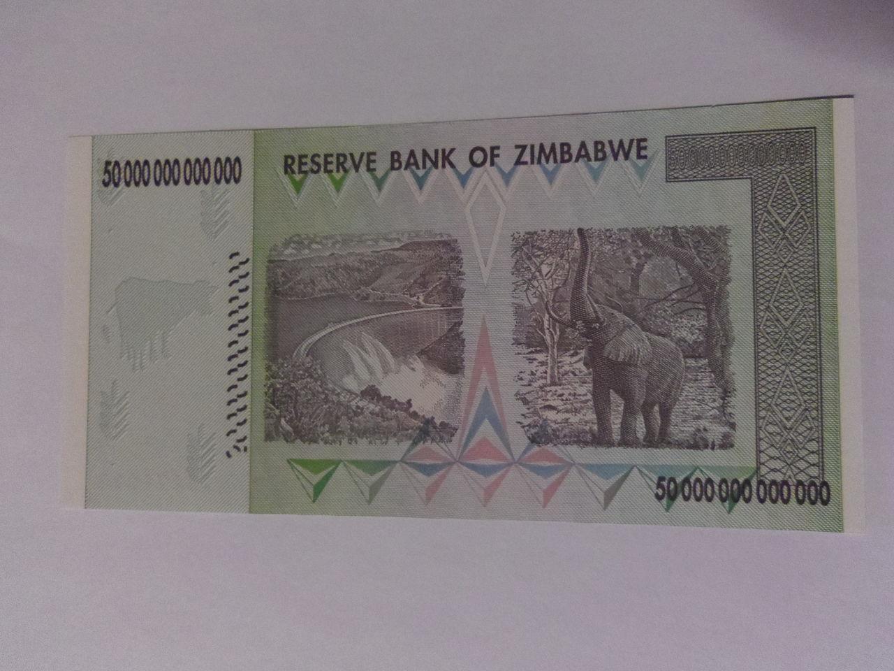 50 Trillones de dólares zimbabuenses, Zimbabue 2008. IMGP3018